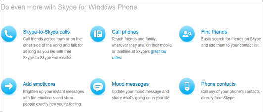 Skype for Windows Phone 75