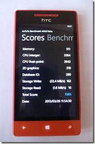 HTC 8S-antutu result