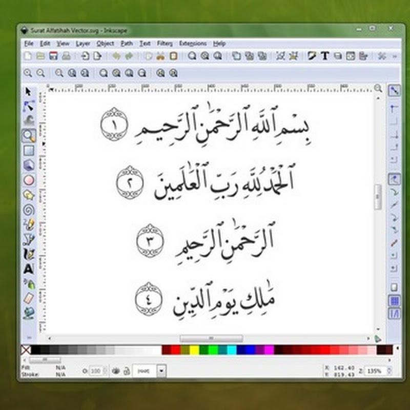 Download Vector Surat Al Fatihah (SVG)
