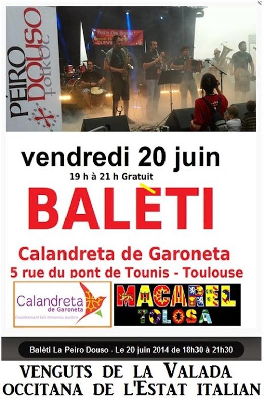 aficha de balèti a Tolosa
