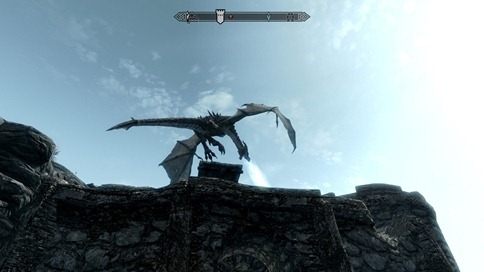 skyrim dragon attack