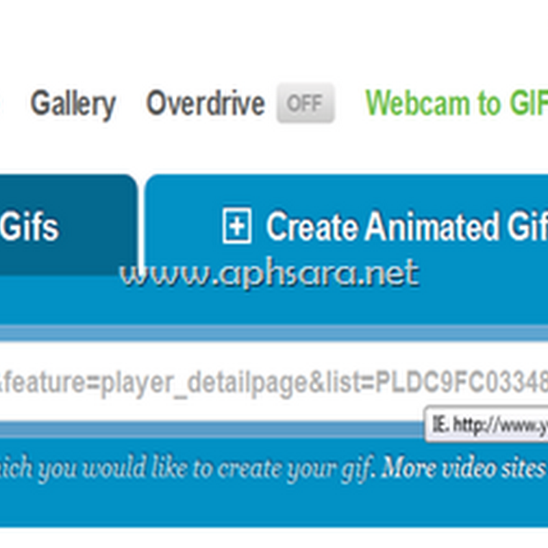 Web service to create gif form video online