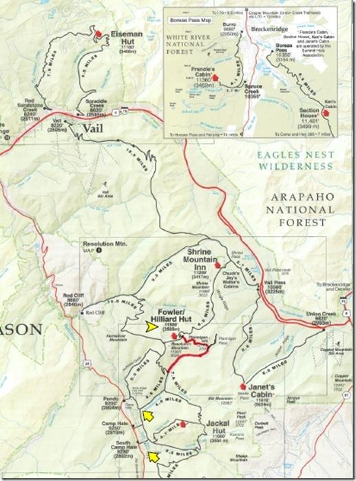 hut trip map
