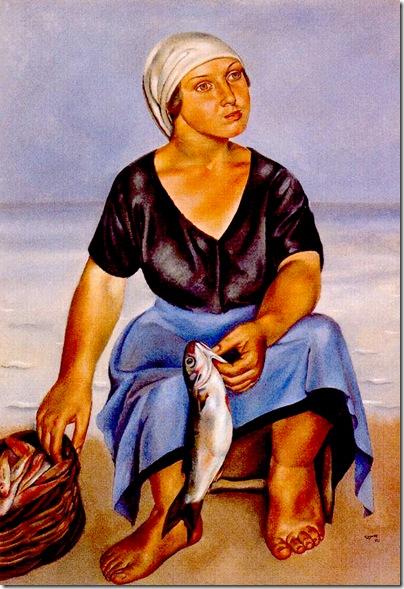 Josep de Togores i Llach -La pescadora de Banyuls -1921