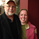 Playwright Carter W. Lewis and Company Member Marisa Wegrzyn. Both Marisa and Managing Artistic Director Brian Golden studied playwrighting under Carter at The University of Washington in St. Louis.