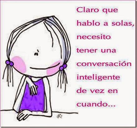 hablo a solas