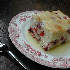 Cranberry Dessert Cake With Butter Sauce