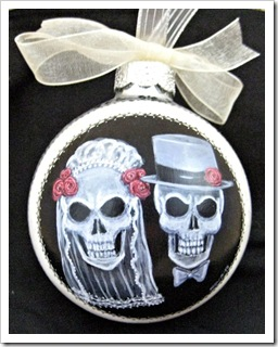 Till Death Skull Wedding Ornament 2013
