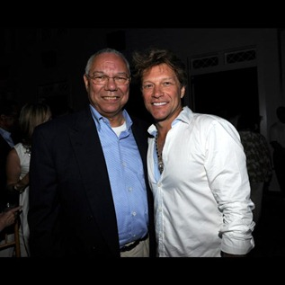 Colin Powell and Jon Bon Jovi attend 2011 Apollo in the Hamptons