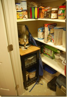 Mixer cart in pantry