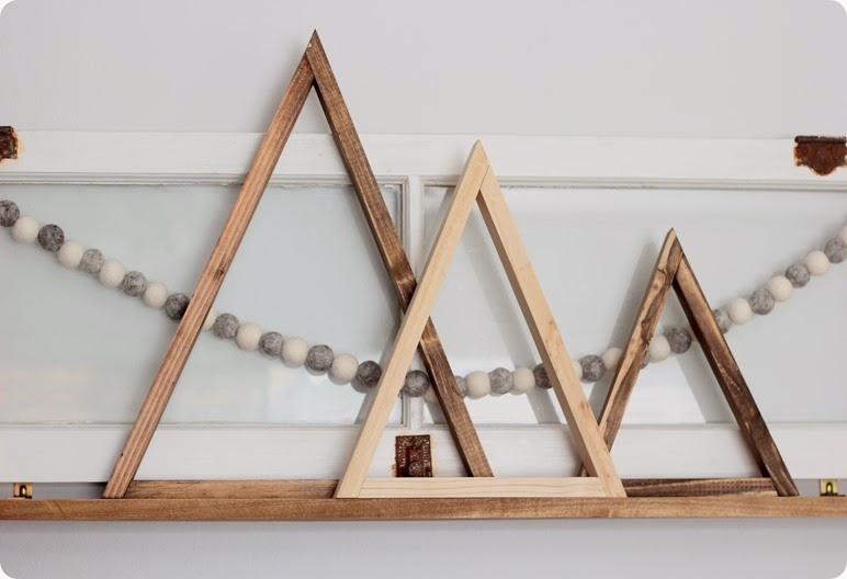 WOODEN TRIANGLE TREES