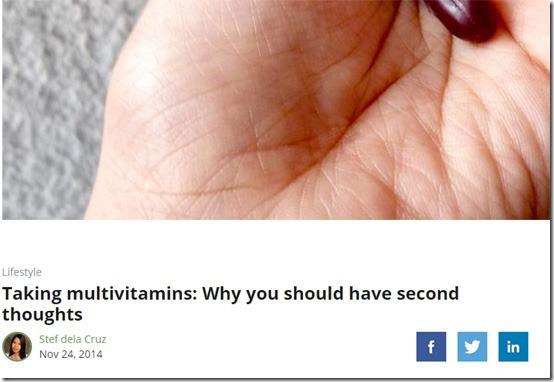 multivitamins health