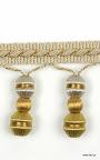 Taśma z dzwonkami (koralikami) do dekoracji mebli, zasłon, poduszek, abażurów itd.