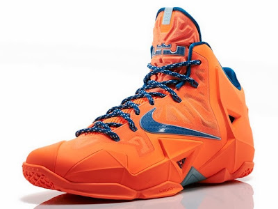 nike lebron 11 gr hardwood knicks 4 02 Release Reminder: LeBron 11 Atomic Orange Miami vs. Akron