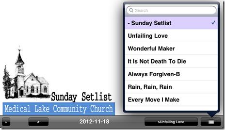 setlist 2012-11-18 unrealBook