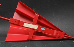 Red umbrella sconce by Zicoli