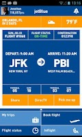 Screenshot of JetBlue