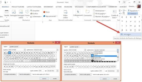 inserire-simboli-documento