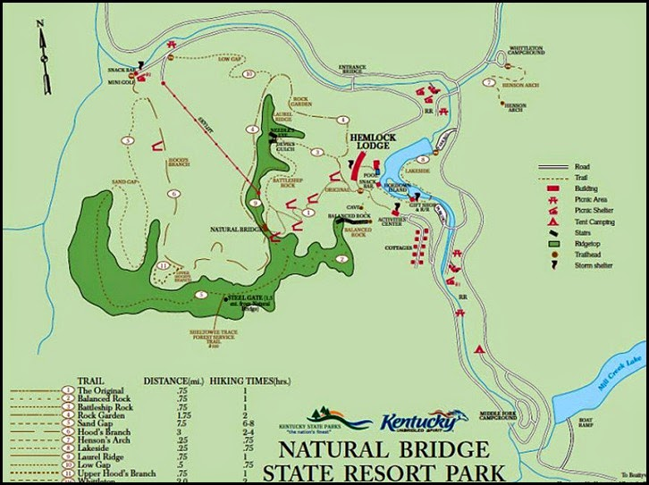 05 - Map of Natural Bridge State Park