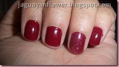 Mani Rojo Purpurina
