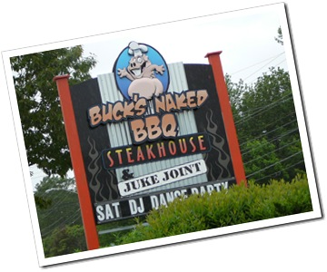 Gotta love a restaurant with naked BBQ!