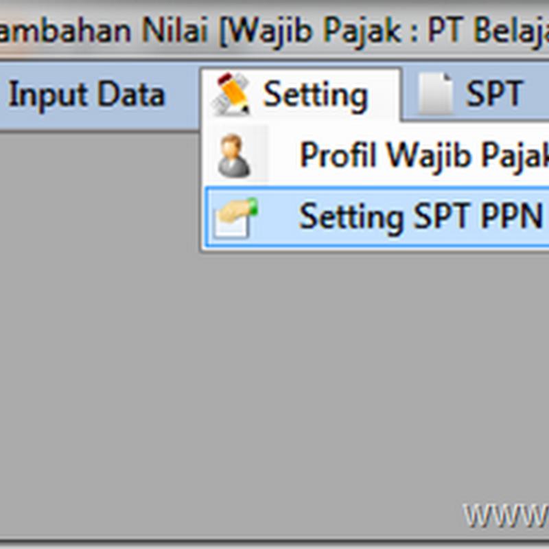 Cara membuat Pembetulan E SPT PPN 1111