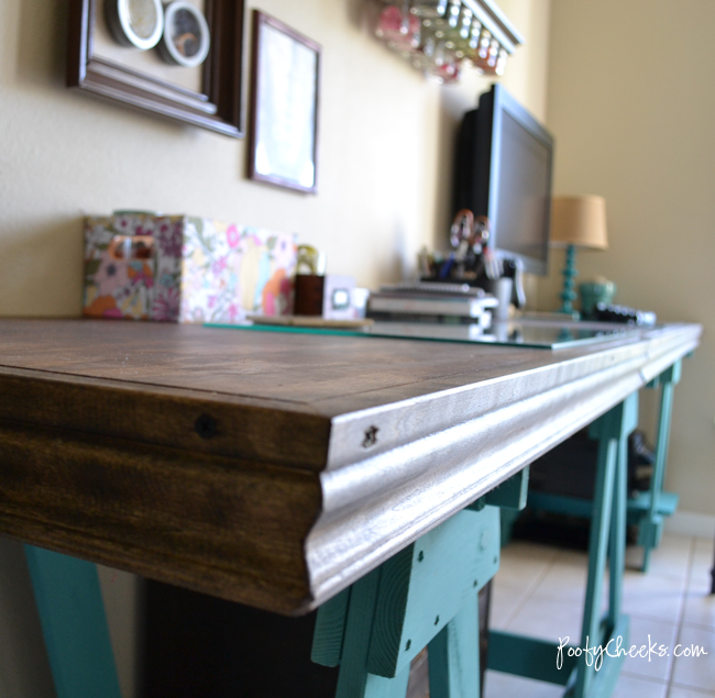 Sawhorse Craft Desk by Poofy Cheeks