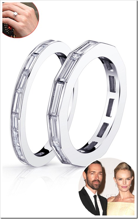 Kate Bosworth and Michael Polish boths wedding bands