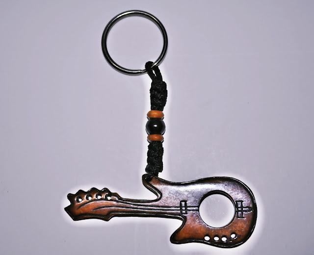 Guitar design Bone Keyring