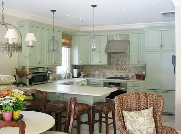 Da color a su cocina a través de sus gabinetes y paredes
