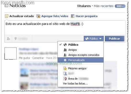 Personalizar Publicación Facebook