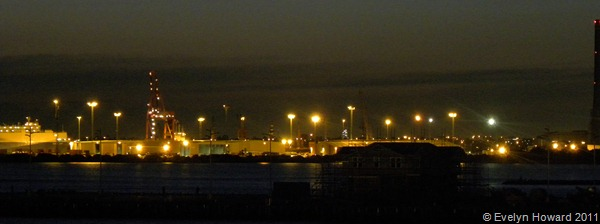 Port Melbourne at night © Evelyn Howard 2011