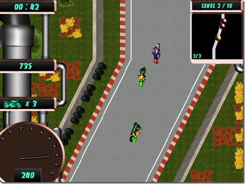 The game Moto Geeks welcomes you to the world of breathtaking motor cycle races and formidable opponents.
