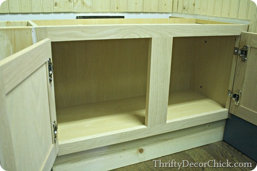 kitchen cabinets as mud room bench