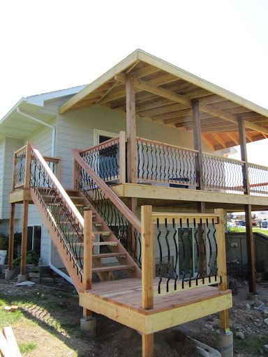 Back deck and stair to yard