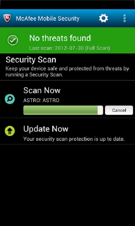 Descargar McAfee Mobile Security para celulares gratis