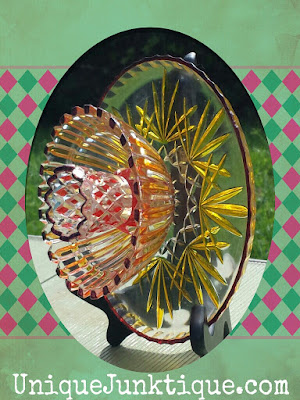 vintage glass flower art