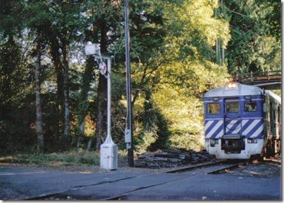 Lewis & Clark Explorer passing through Knappa, Oregon on September 24, 2005