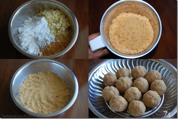 Peanut laddu process 2