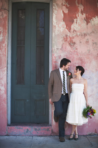 Before their Saturday afternoon ceremony, Kyle and Tammany roamed the French Quarter and had their photog snap pics whenever they happened upon cool architecture.