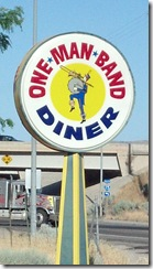 one man band diner sign