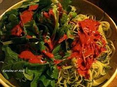 vermicelles de courgettes salade