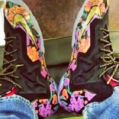 James Enjoys Nike LeBron 11 Flowers PE Off the Court