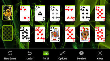 Screenshot of Doublets Solitaire