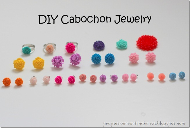 DIY cabochon jewelry