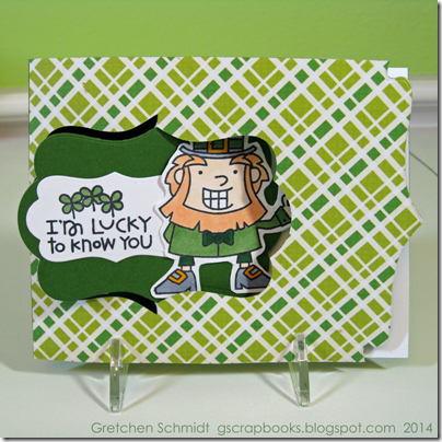 I'm Lucky To Know You Card by @gscrapbooks