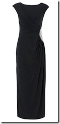 Long black jersey dress
