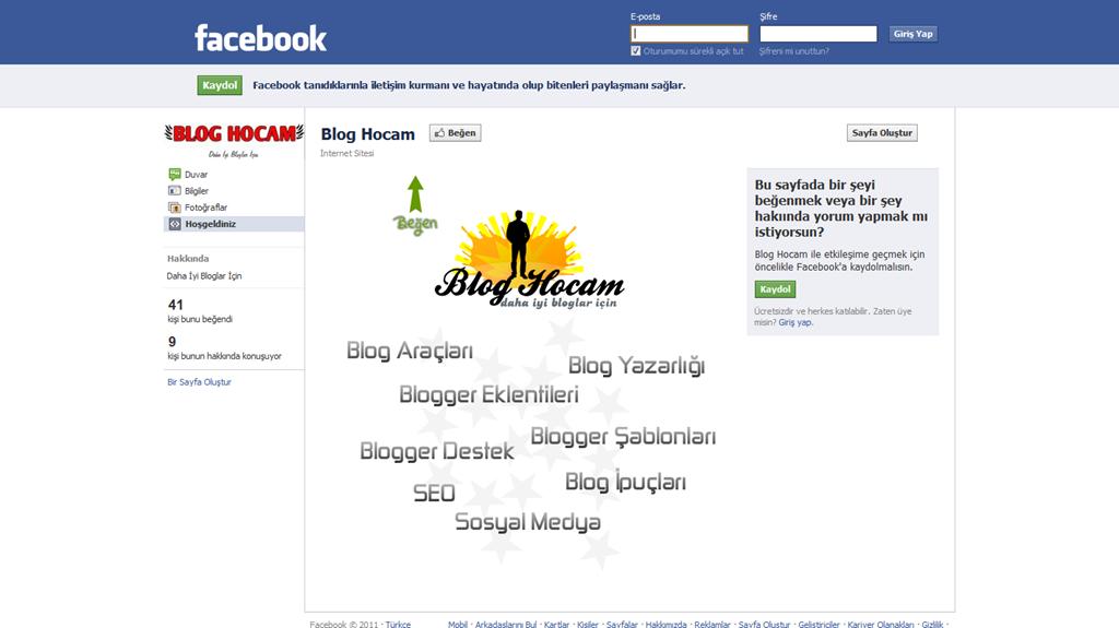 Facebook Sayfalar İçin Zaman Tüneli
