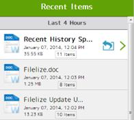 أخر ملفات قمت بالعمل عليها يقوم برنامج المزامنة الذكى Filelize بمزامنتها مباشرة مع خدمتك السحابية المفضلة