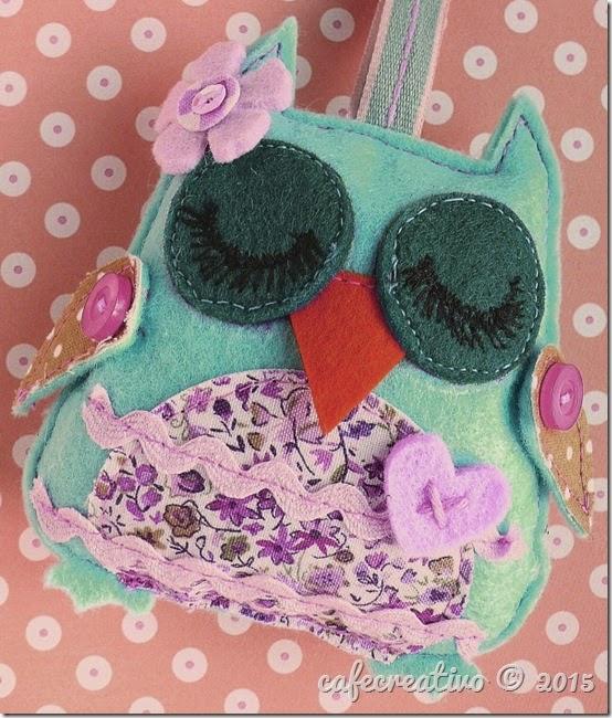 cafe creativo - sizzix big shot - fustella gufo feltro - felt owl